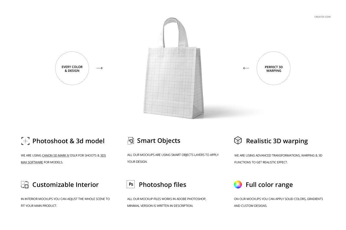 Download Non Woven Tote Bag Mockup Set Bag Mockup Woven Tote Bag Woven