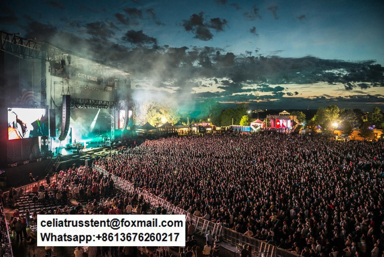 Big Concert Outdoor Event Barricades Protect Customized Event Tent Outdoor Events Concert