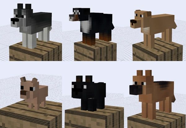 minecraft how to build a dog