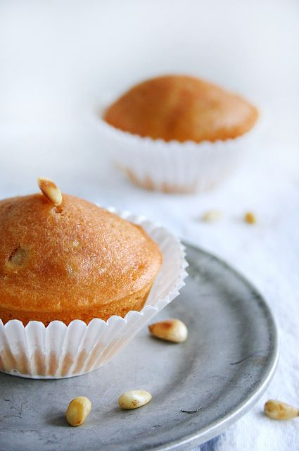 Tomato Ginger Muffins with Pine Nuts, Olive Oil, and Orange Blossom Water