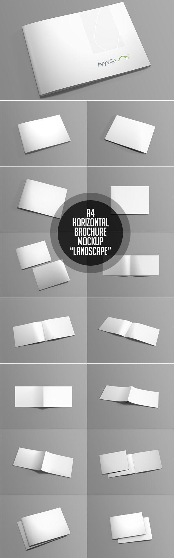 Free Landscape Brochure Psd Mockup  Design  Graphic