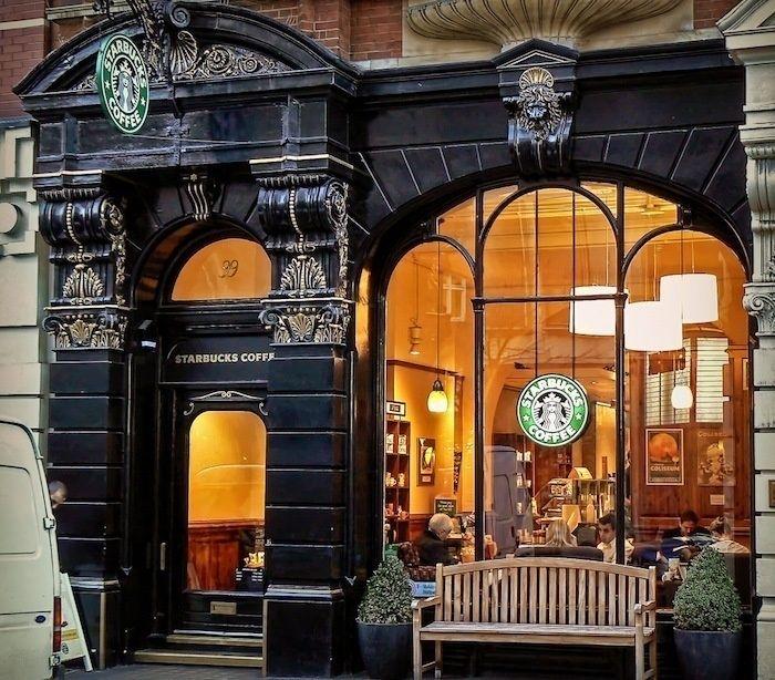 99 St. Martins Lane in Covent Garden, London. Starbucks