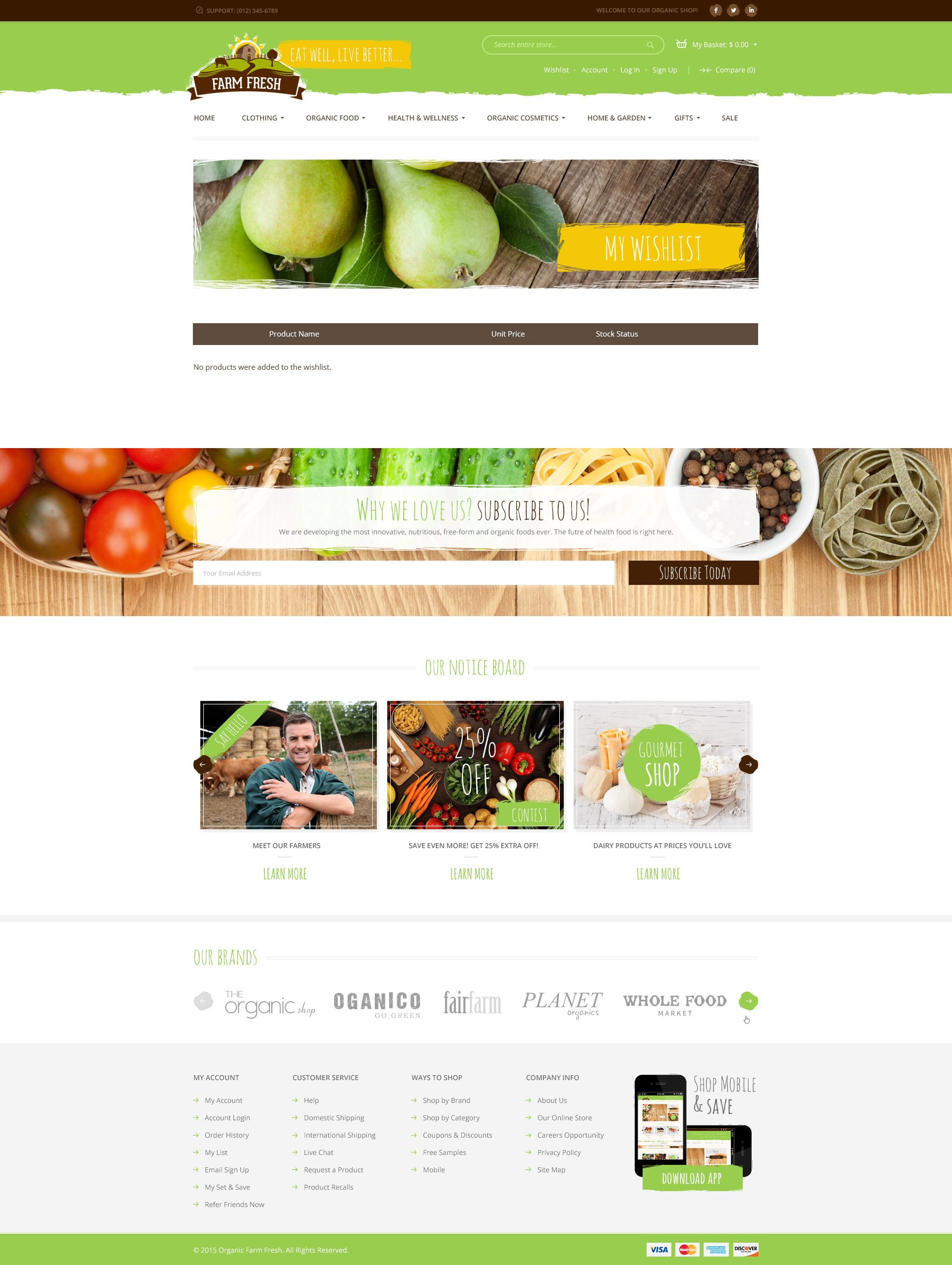 Farm Fresh Organic Products PSD Template Farm fresh