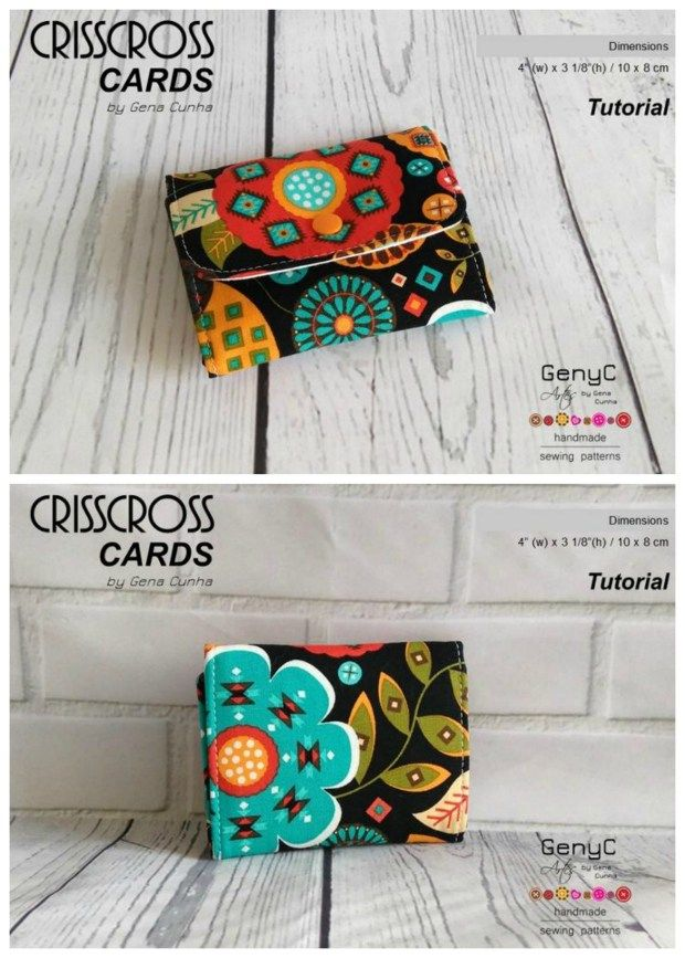 Crisscross Card Wallet Free Sewing Pattern Bags To Sew