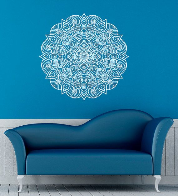Mandala wall decal indian pattern vinyl stickers namaste yoga home interior design art murals bedroom living room decor welcome to our shop also rh pinterest