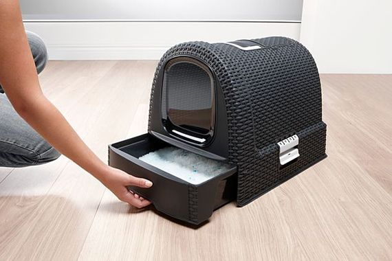 The Curver Cat Litter Box Is Now Available In Anthracite And Cream From Pets At Home Online Only With Images Modern Cat Furniture Cat Litter Box Cat Litter Box Furniture