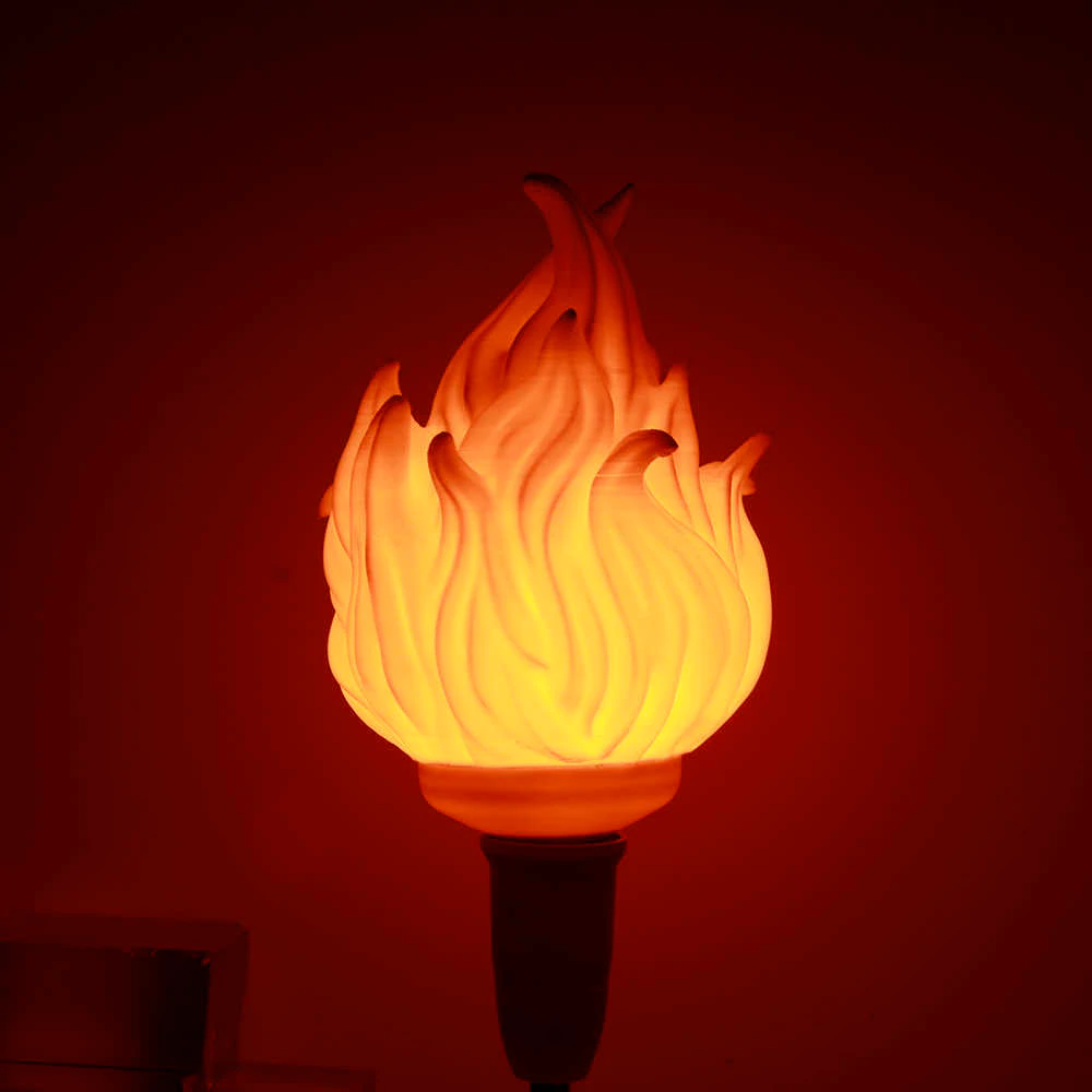 3d Printing Led Flame Effect Light Bulb Fire Flickering Emulation Decor Lamp E27 Led Flame Effect Fire Light Bulbs For Bedroom Aliexpress Light Bulb Bulb Frosted Lamp