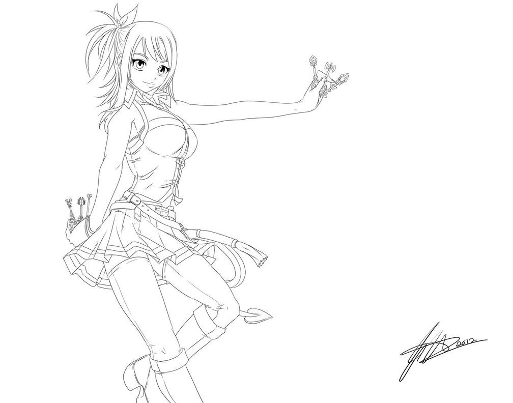 11 Images Of Lucy Heartfilia Coloring Pages Lucy Heartfilia Line Merchen