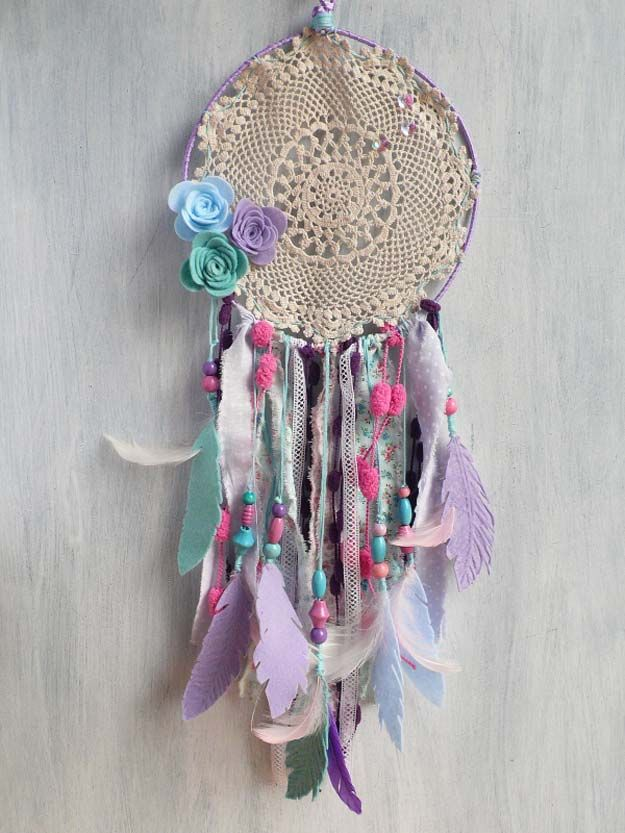 Bedroom Decor Homemade 26 fabulously purple diy room decor ideas | diy dream catcher