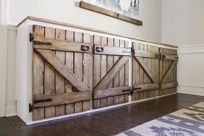 upcycled barnwood style cabinet, diy, kitchen cabinets ...