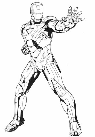 Iron Man Stops The Enemy Coloring Page Superhero Coloring Pages Superhero Coloring Spiderman Coloring