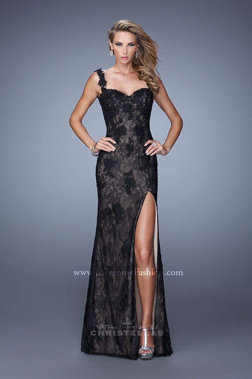 Low and daring this fully open back is breathtaking la femme