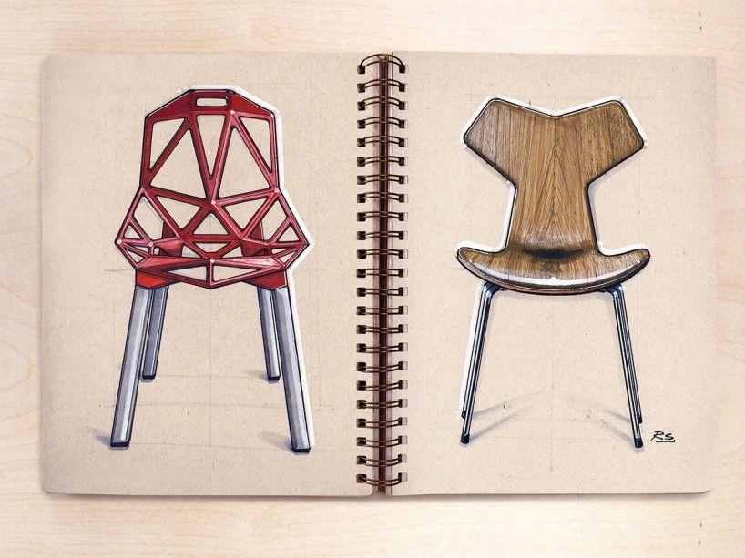 点击打开原图   Furniture design sketches, Sketch book
