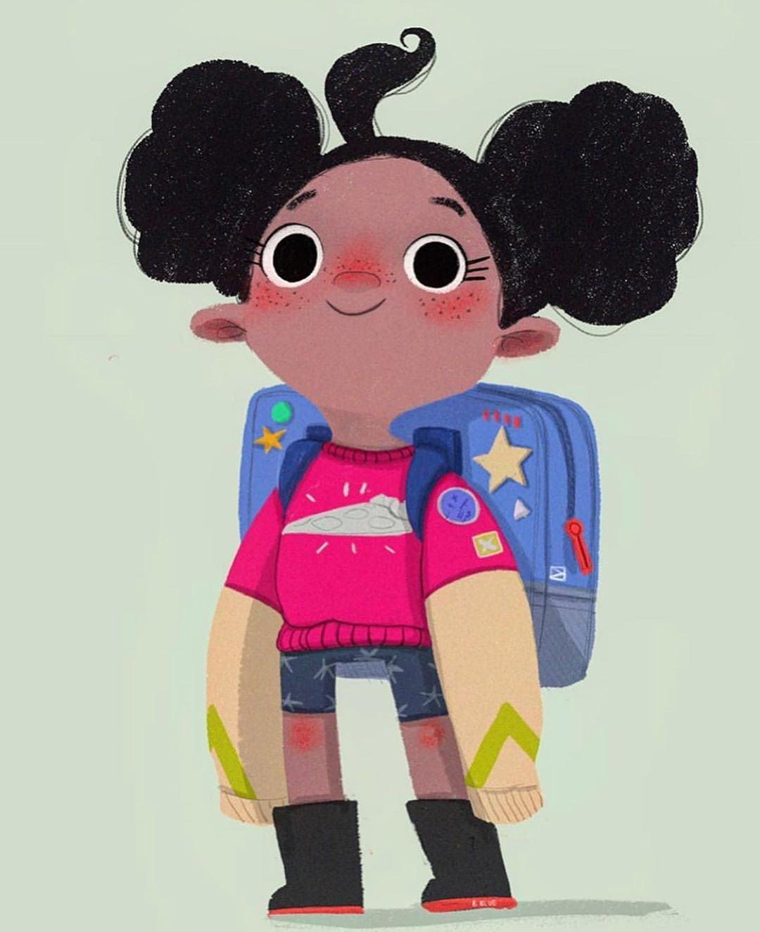 """Beatrice Blue on Instagram: """"⭐️Here's a little girl I designed more than 1 year ago for a super cool project that I didn't get in the end- swipe to see more of her! - -…"""""""