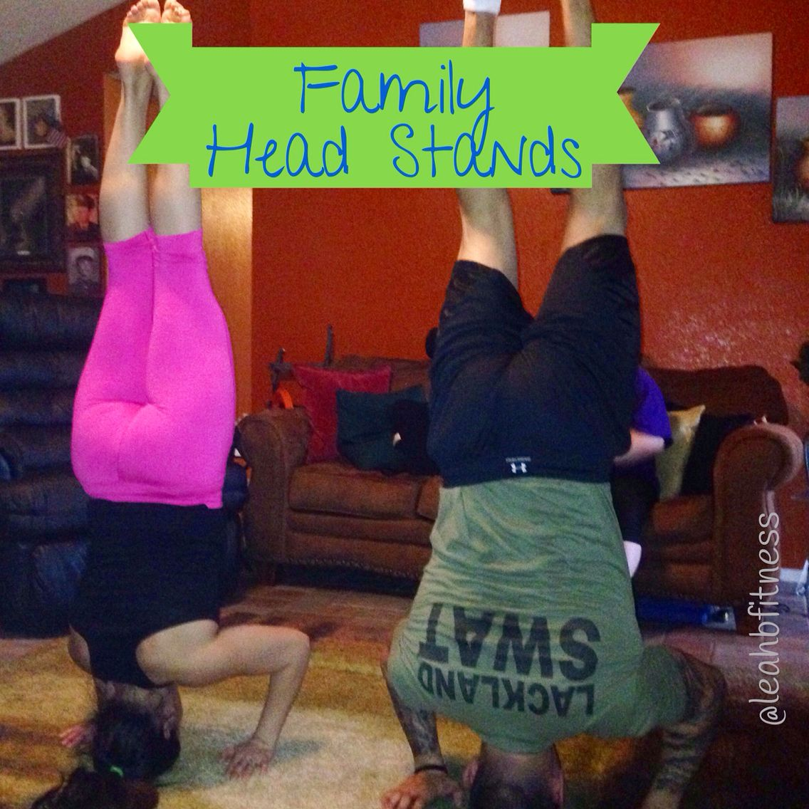 After a little PiYo workout, we had a brother and sister headstand competition.  I love that fitness is a passion that we both share. My brother is into bodybuilding and I love helping people reach their fitness goals.