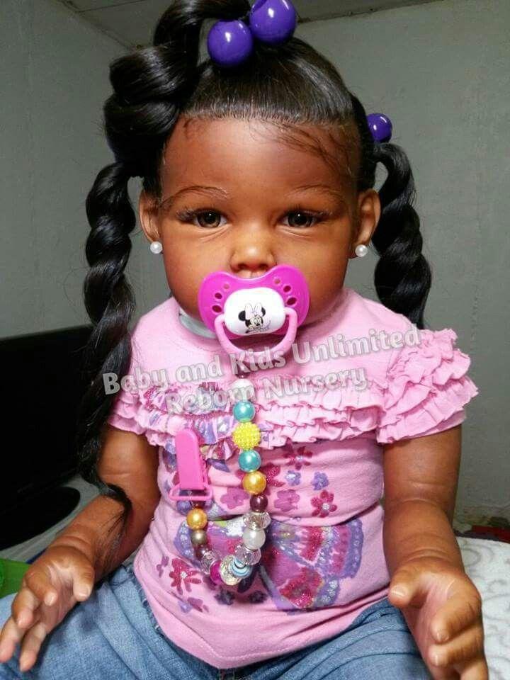 Reborn Baby Dolls African American Black Girl Realistic Newborn Baby Girls Doll