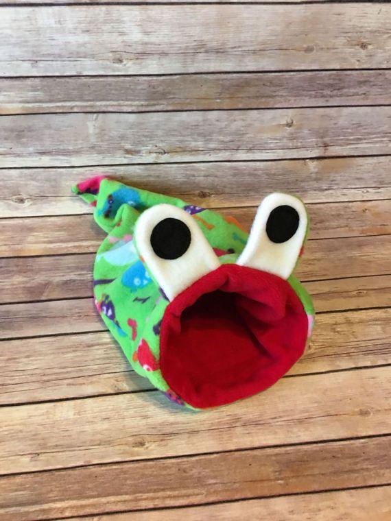 Fleece Snake Monster Stay Open Pouch Bed / Bonding Cuddle Sack