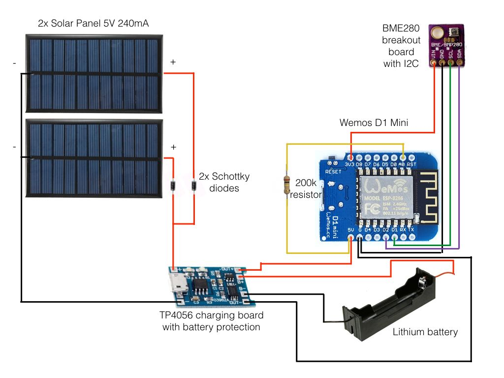 ESP8266 am 18650 mit Solarzelle betreiben | electronics | Pinterest ...
