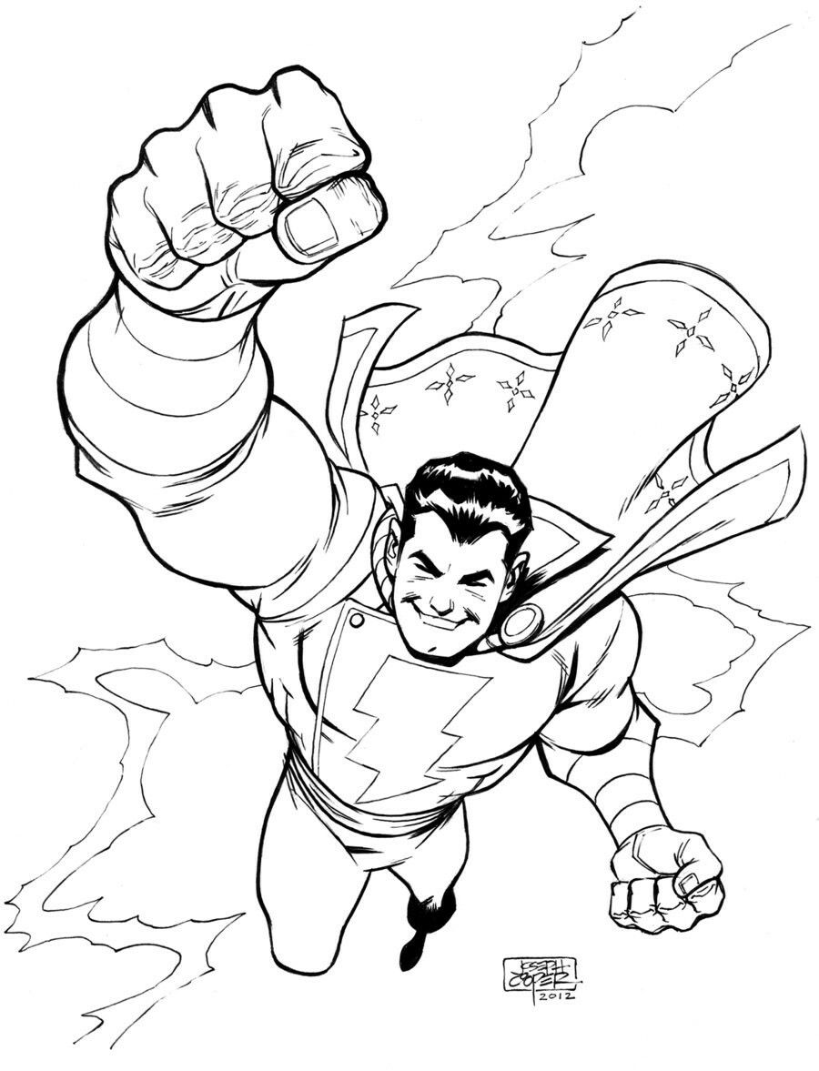 Pin By Drew Davis On Capitan Marvel Shazam Coloring Pages Marvel Coloring Shazam