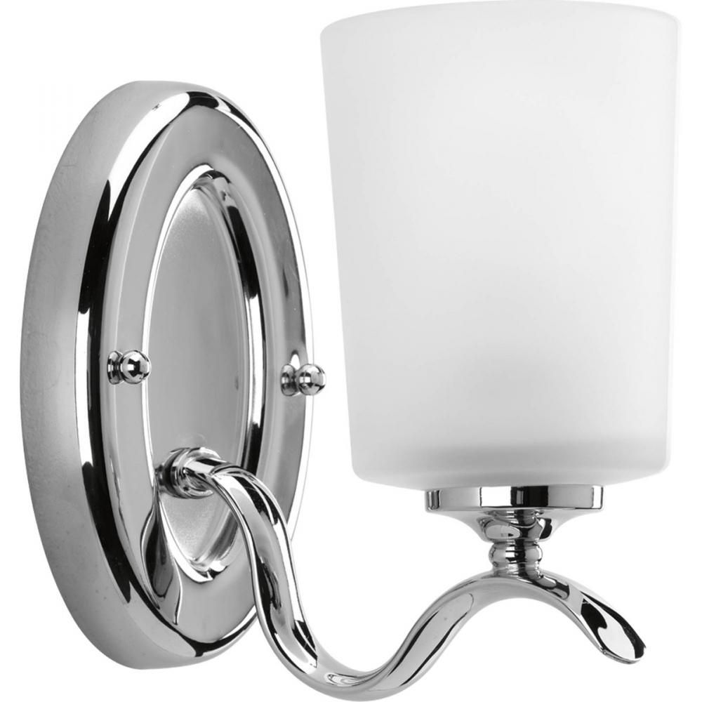 one light polished chrome etched glass bathroom sconce p201815 the light brothers