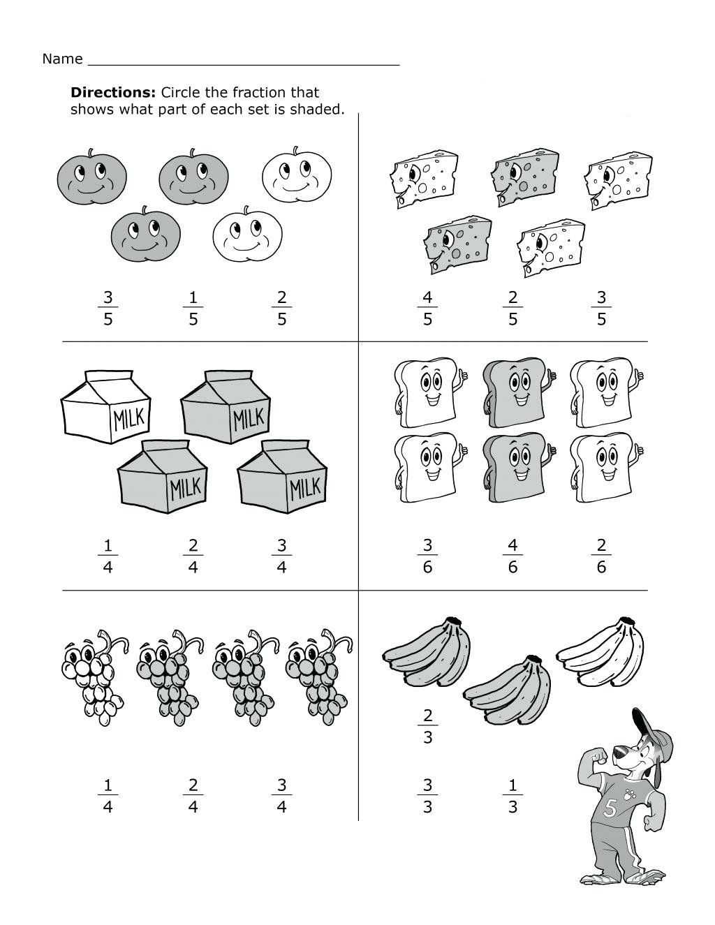 2nd Grade Fractions Worksheet 2nd Grade Math Worksheets