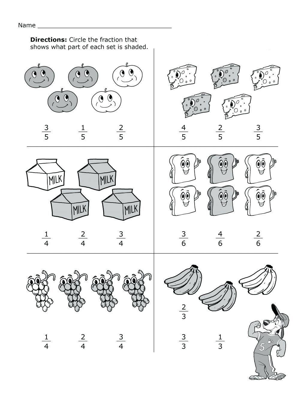 2nd Grade Fraction Worksheets 2nd Grade Math Worksheets Best Coloring Pages  for Kids   Fractions worksheets [ 1325 x 1024 Pixel ]
