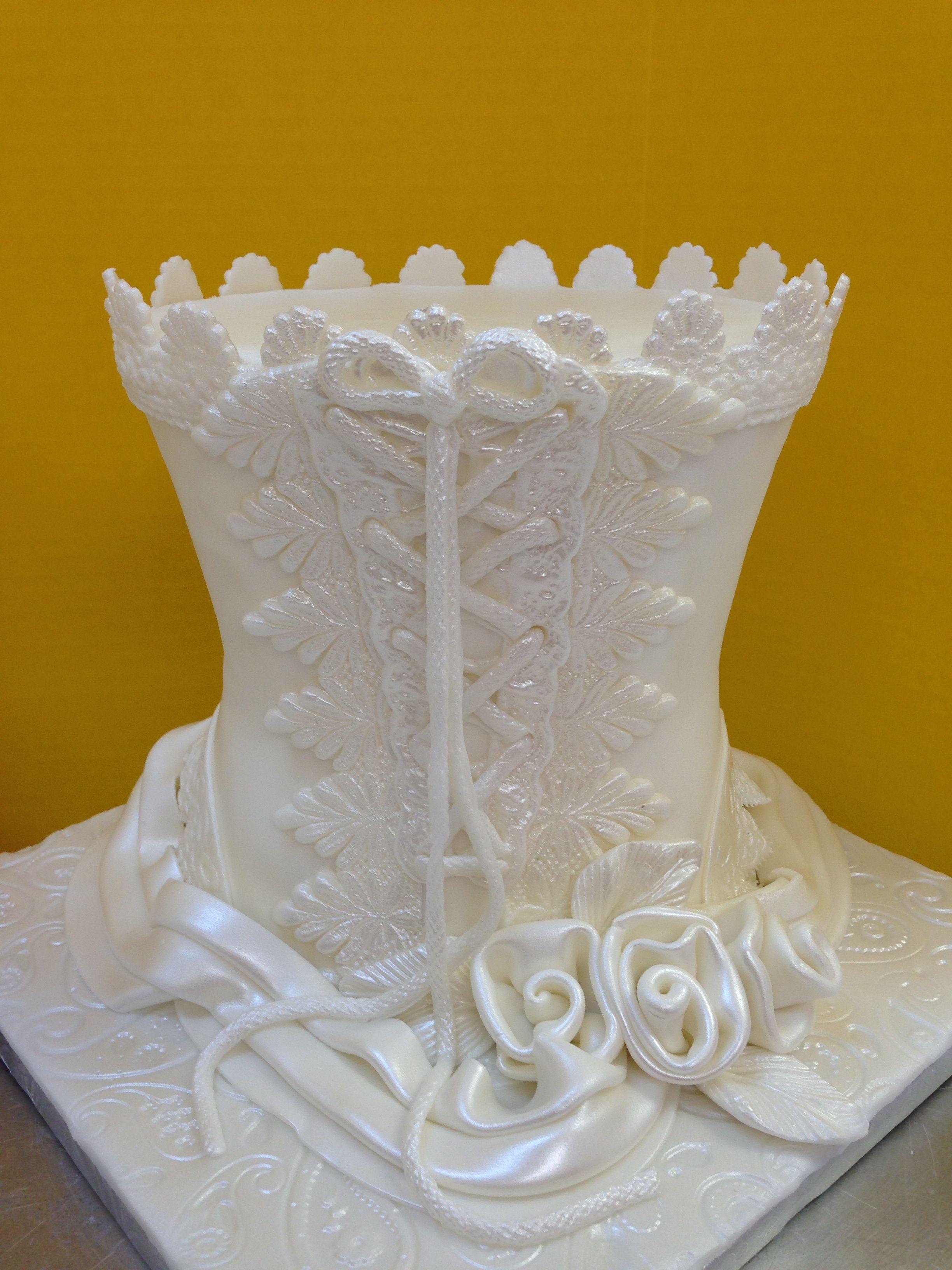 White Corset. CakeSuppliesDepot.com