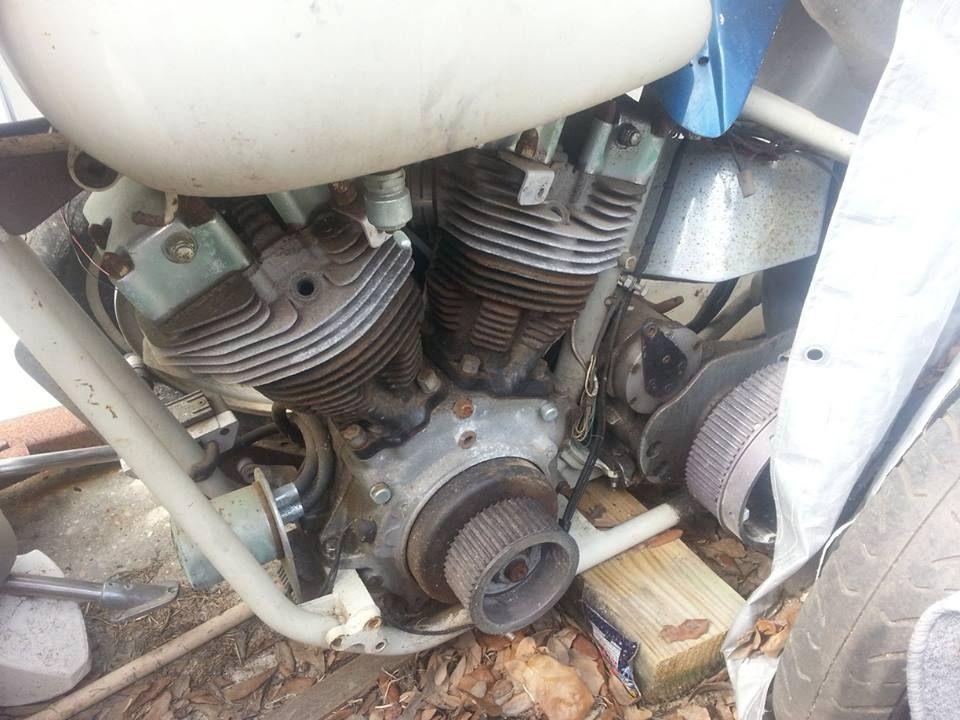 77 Shovelhead Motor     It Is A Project Bike For Sale