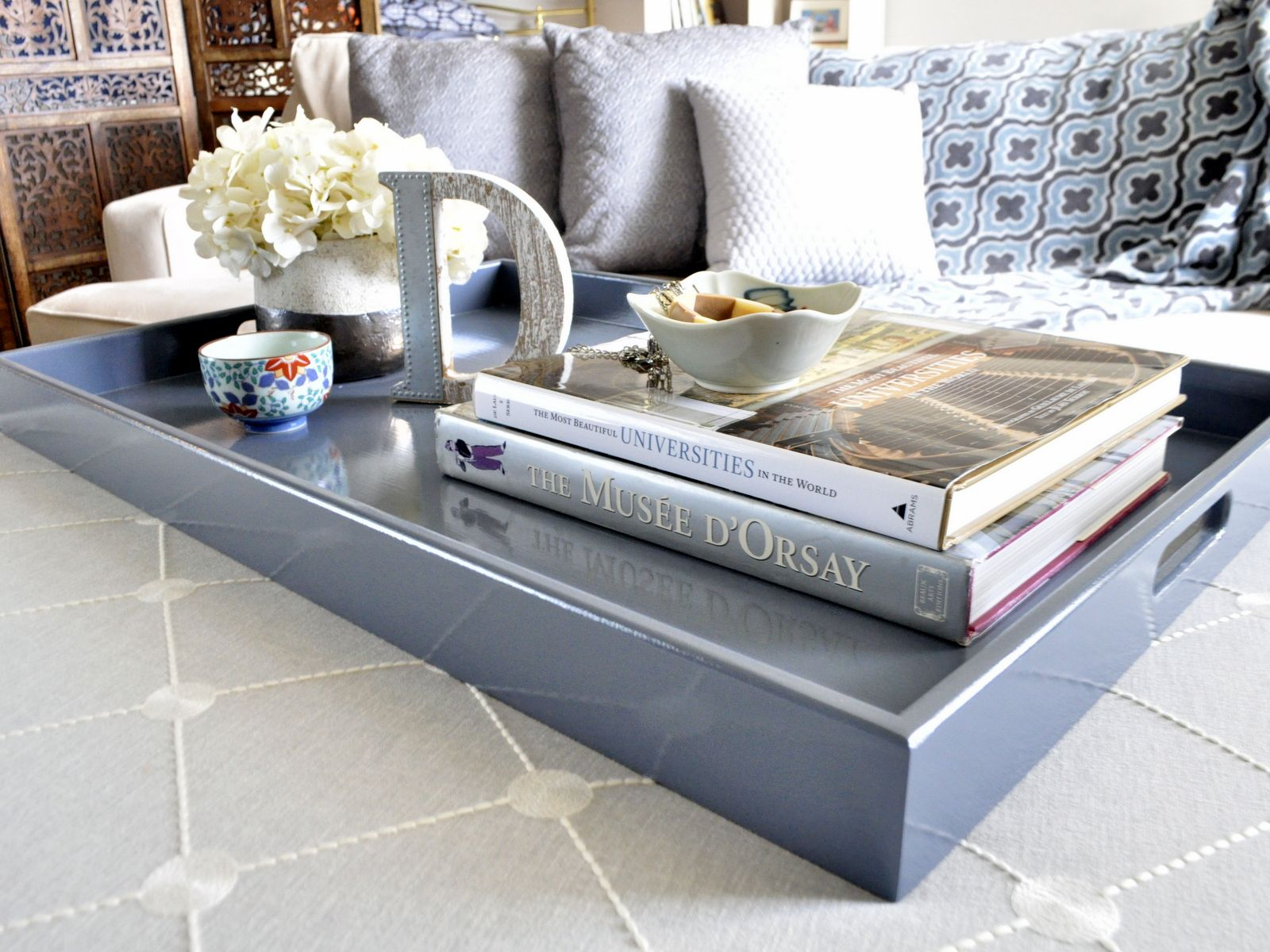 Slate Love It Up Decor Ottoman Tray Table Decor Living Room Extra Large Coffee Table