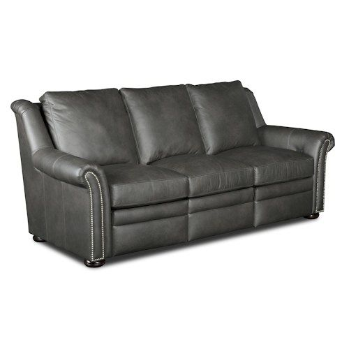 Newman Transitional Power Reclining Sofa With Nailheads By
