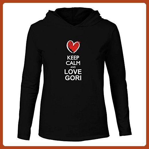 Idakoos - Keep calm and love Gori chalk style - Cities - Hooded Long Sleeve T-Shirt - Cities countries flags shirts (*Partner-Link)