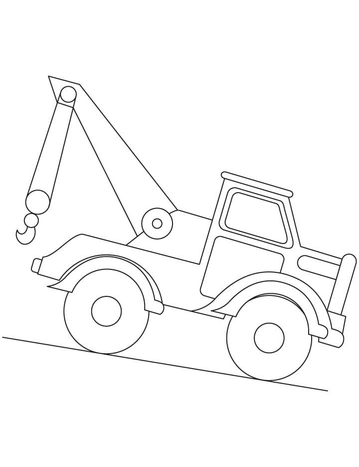 Crane Coloring Pages 1 With Images Coloring Pages Truck