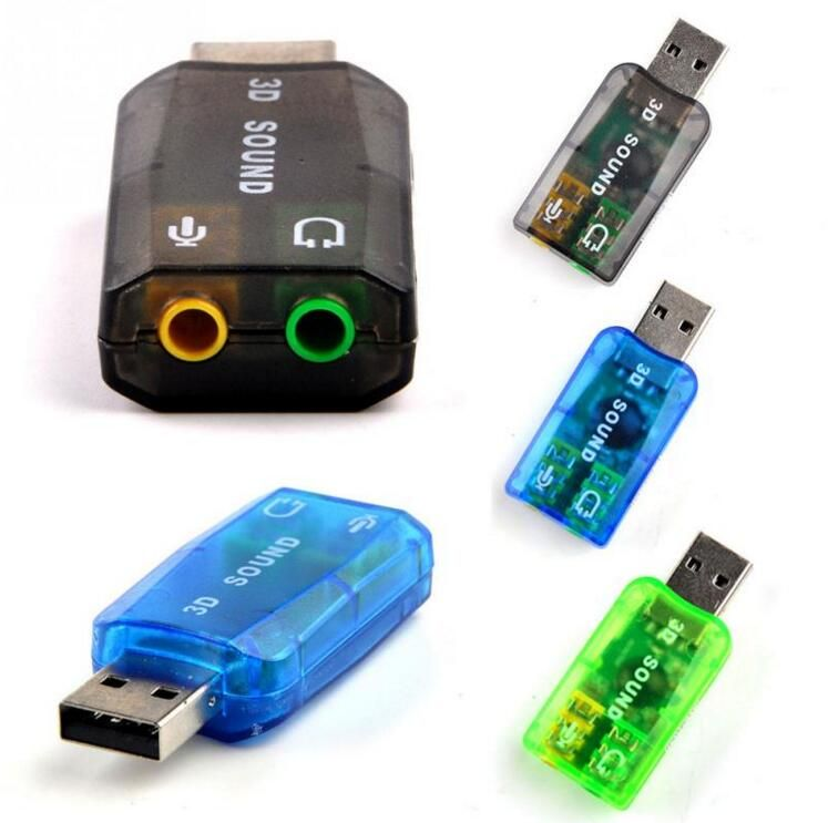 USB2.0 External Stereo Sound Card Adapter Plug and play for Laptop plug/&play