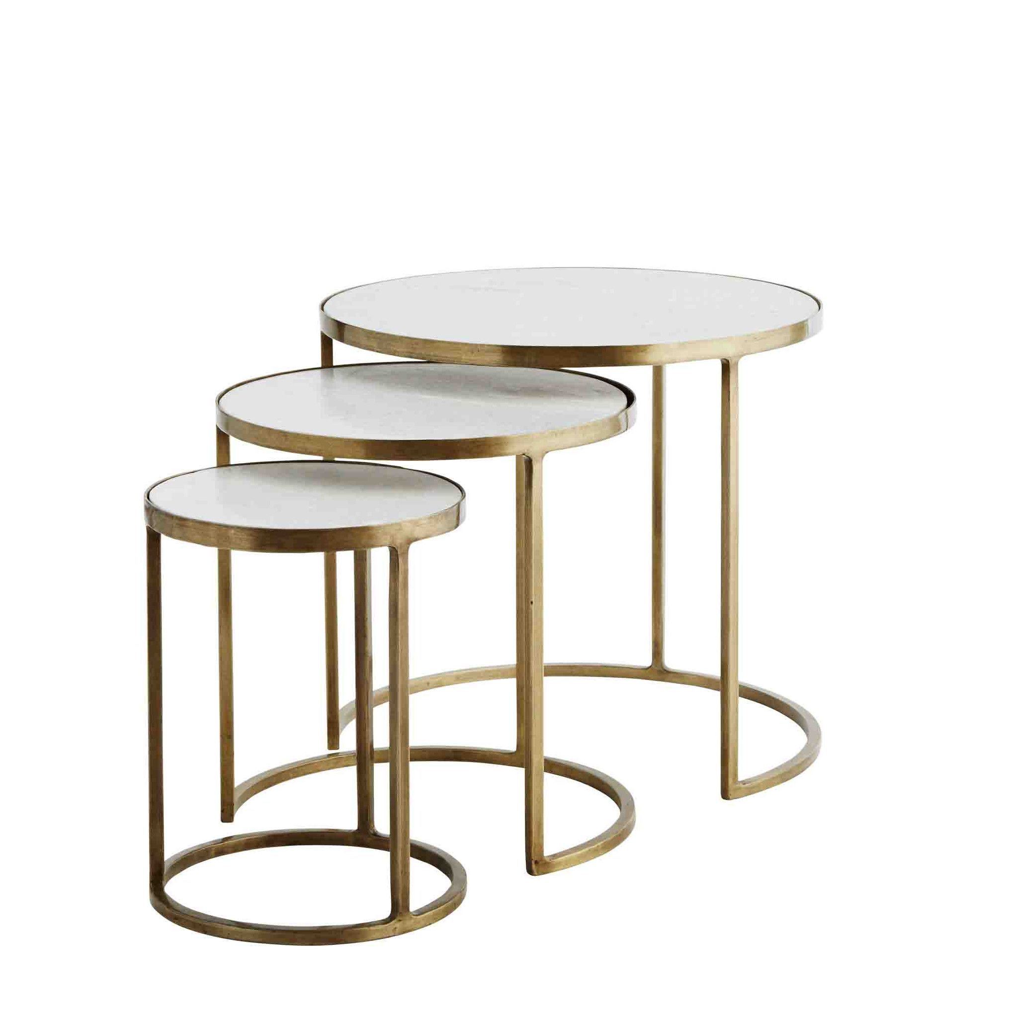 Brass And Marble Round Nest Of 3 Tables Kahve Masasi Ic Mekan Fikirleri Crate And Barrel [ 2048 x 2048 Pixel ]