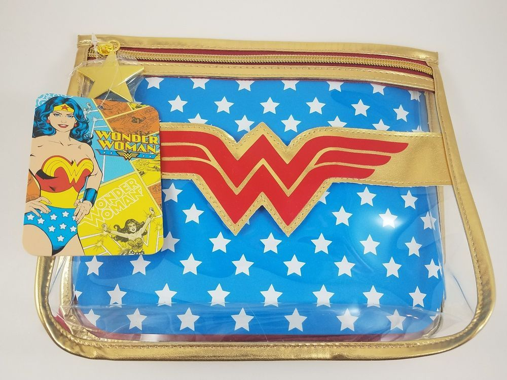 Wonder Woman SOHO Cosmetic Makeup Bag Organizer Tote Clear