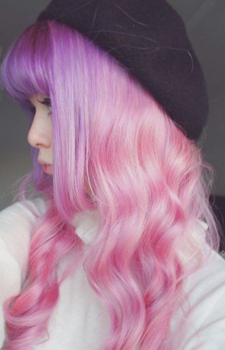 Beautiful Pink Hairstyle For Ladies Over 20 Years Con Imagenes