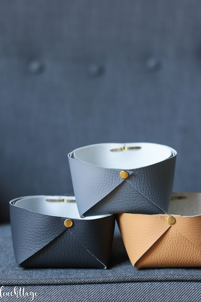 Photo of Basket made of synthetic leather – which lasts a long time!