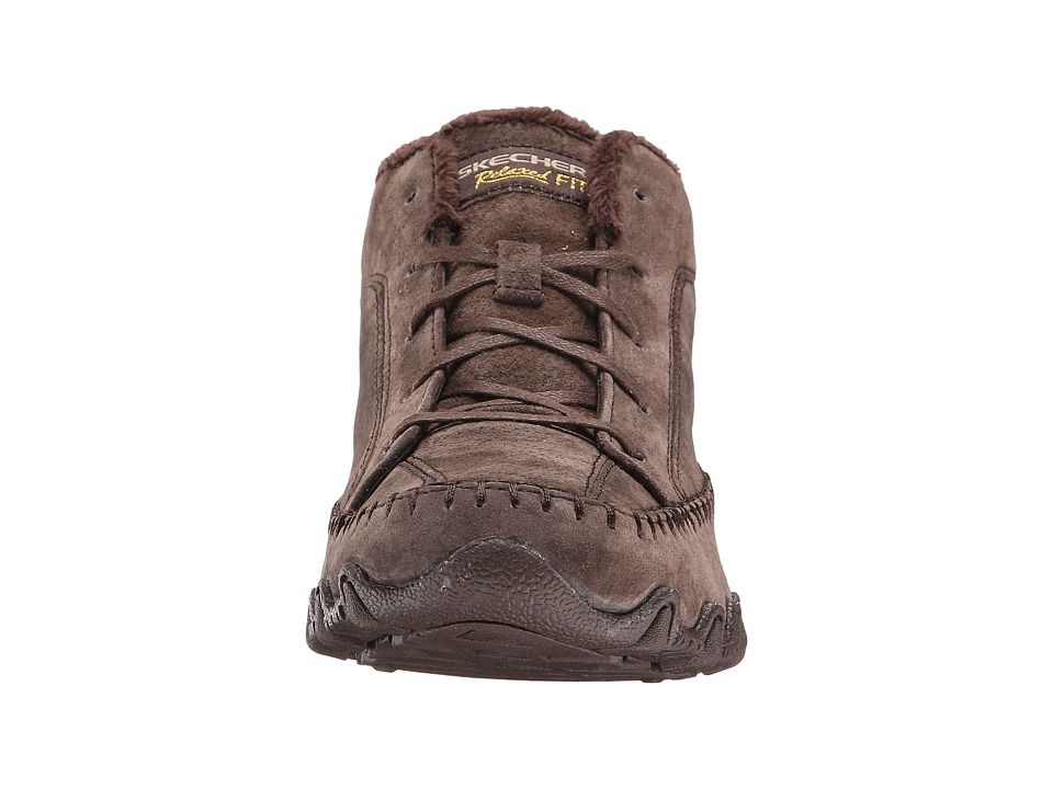 ff6897bb887a SKECHERS Bikers - Totem Pole Women s Lace up casual Shoes Chocolate ...