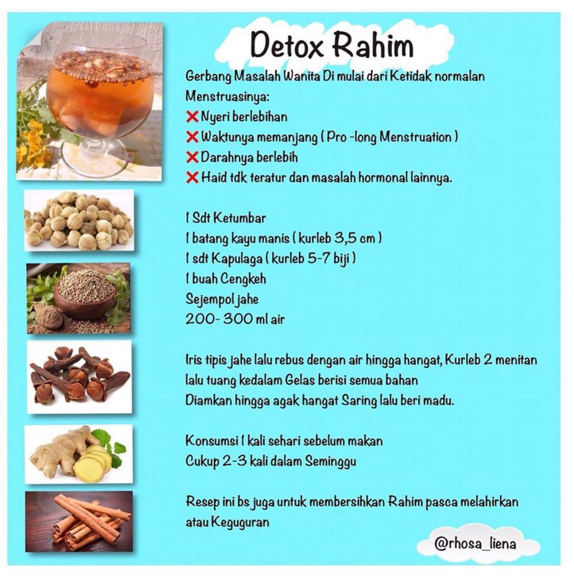 Detox Rahim Haid Tidak Lancar Keputihan Memperpanjang Masa Haid Diet Detoks Makanan Sehat Resep Diet