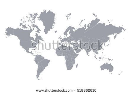 Political map of the world gray world map countries vector political map of the world gray world map countries vector illustration publicscrutiny Gallery