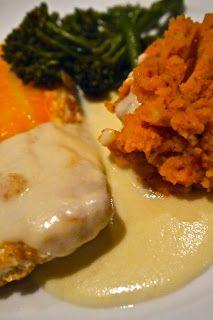 Domestic Sluttery: Sluttishly Savory: Poached smoked haddock, mornay sauce and pesto mash