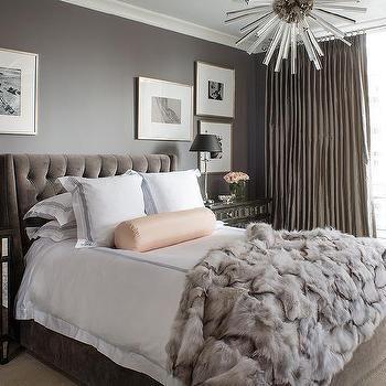 Gray And Pink Bedroom Transitional Bedroom Benjamin Moore White Dove Veranda Cozy Bedroom Design Bedroom Decor Cozy Home Decor Bedroom