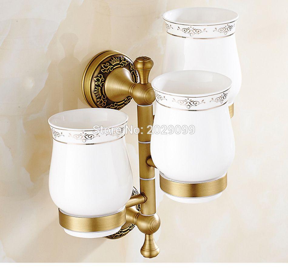 Yanjun Three Cup Holders Wall Mounted Toothbrush Cup Holder - Bathroom cup holders wall mount for bathroom decor ideas