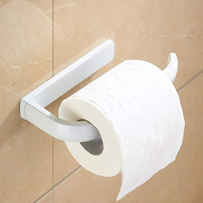 Rozin Wall Mounted Roll Toilet Paper Holder White Color Toilet Paper Holder Brass Toilet Paper Holder Toilet Paper