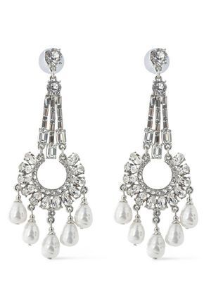 Gold-Plated Crystal And Faux Pearl Earrings Ben-Amun XeCSTBMHaL