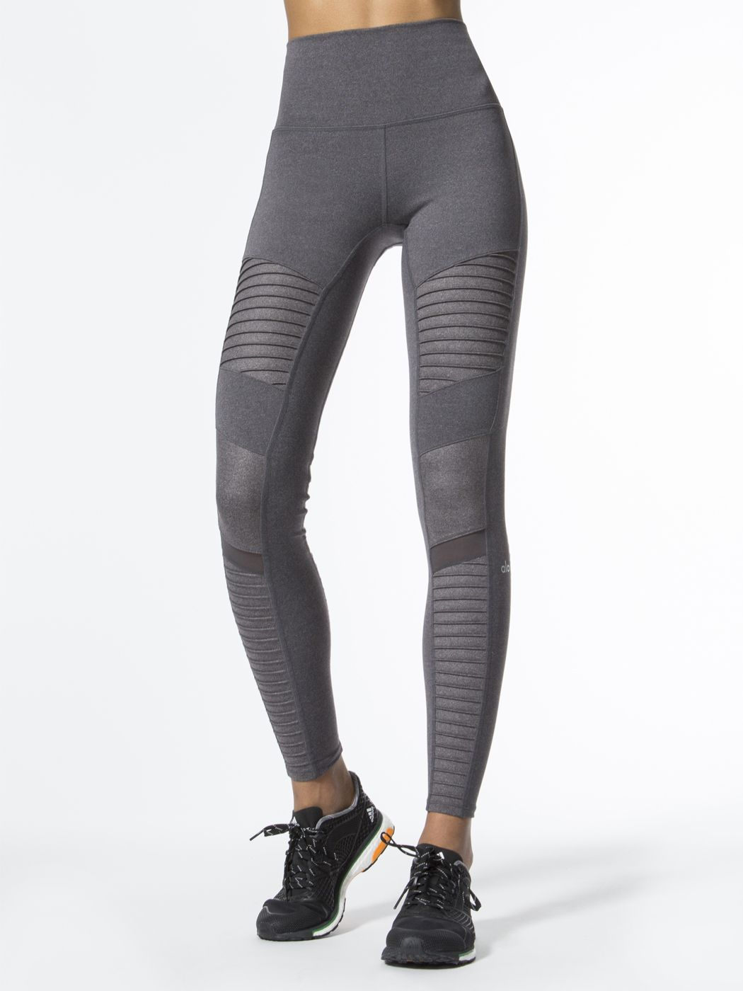 38d07c8e96 High-waist Moto Leggings in Stormy Heather/stormy Heather Glossy by Alo Yoga  from Carbon38