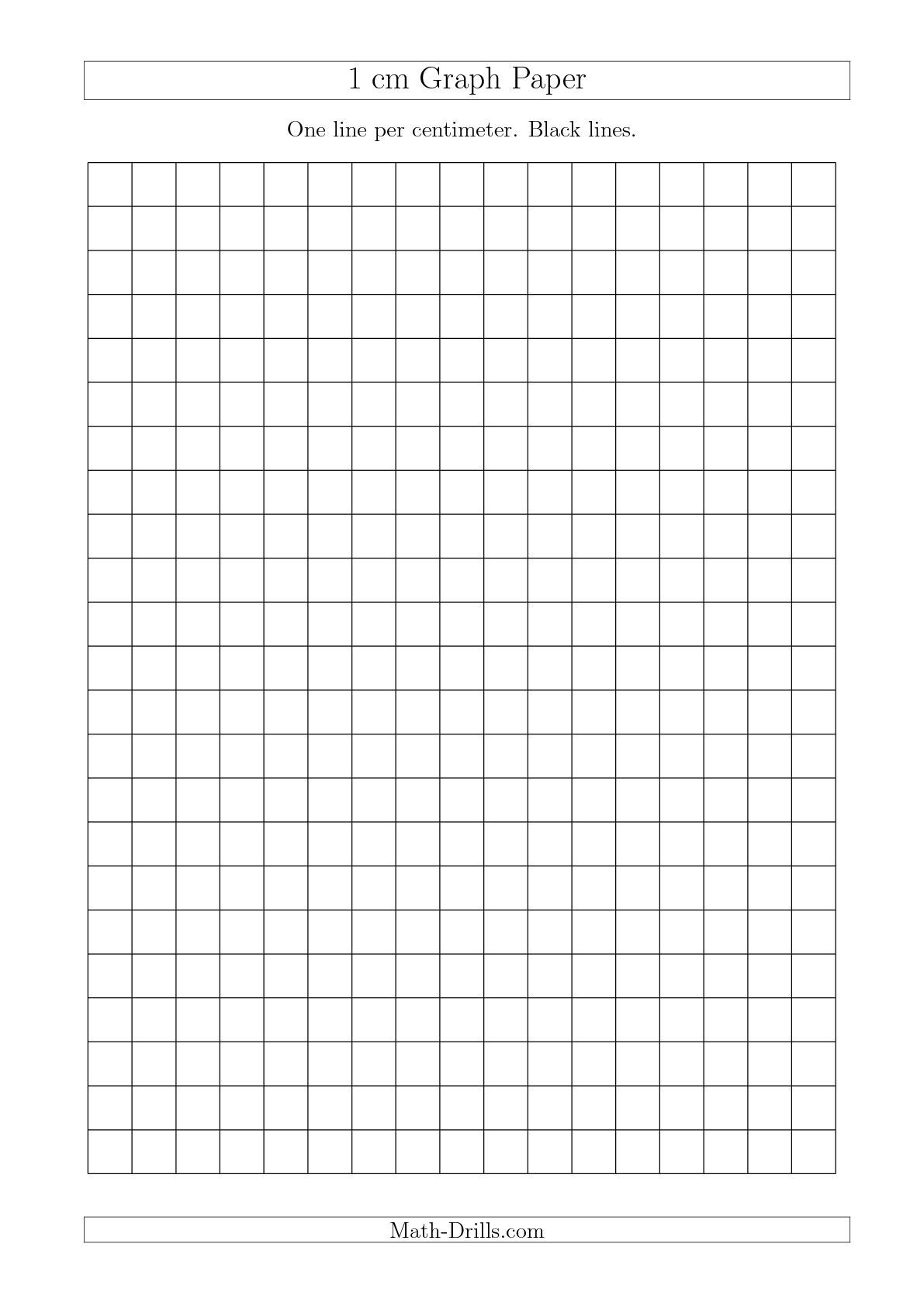 1 Cm Graph Paper With Black Lines A4 Size A Math
