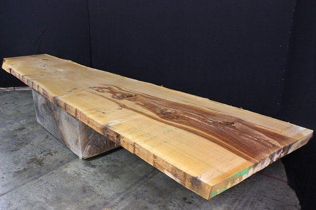 Massivholz Tischplatte Eiche Aus Einem Stuck Mit Schoner Baumkante