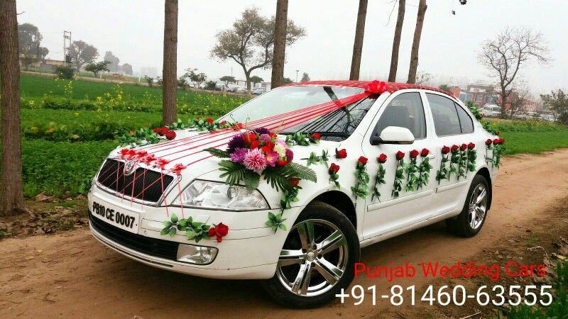 For Booking Luxury Car On Rent For Weddings Parties Or Airport Pick Up And Drop Decorat Wedding Car Car Decorations For Wedding In India Indian Wedding Couple