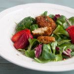 Fried (cashew) Goat Cheese Salad